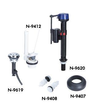 ชุดวาล์วแบบกดบน Single Flush ( WDI) 1 ระบบ NF-9617