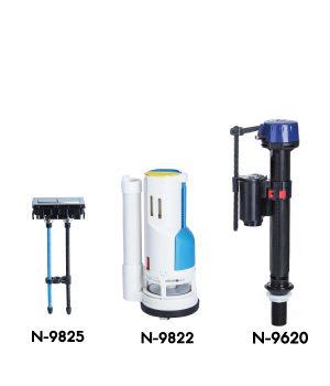 ชุดวาล์ว สำหรับสุขภัณฑ์ One Piece แบบกดบน Dual Flush ( WDI) 2 ระบบ NF-9812