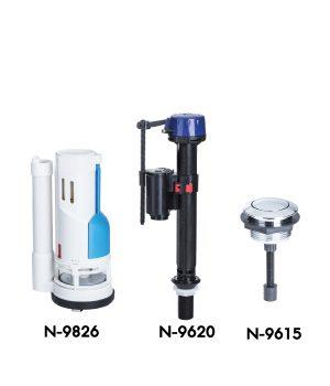 ชุดวาล์วแบบกดบน Single Flush ( WDI) 1 ระบบ NF-9813