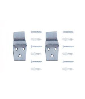 ชุดเหล็กแขวน เหล็กแขวน 2 ชิ้น,สกูร พุกพลาสติก 6 คู่ NI-02